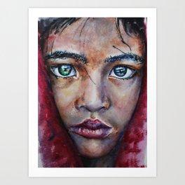 Sad girl portrait Print Art Print