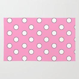 Pink Pastel Polka Dots Rug