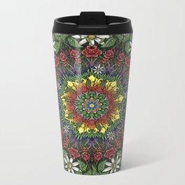 Garden Burst Metal Travel Mug