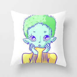 Space bb Throw Pillow