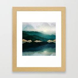 Waters Edge Reflection Framed Art Print