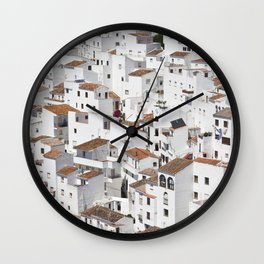 HOUSES - TALL - WHITE Wall Clock