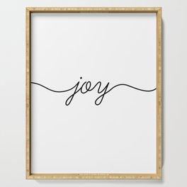 Peace love joy (3 of 3) Serving Tray