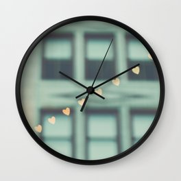 hearts. An Urban Romance No. 2 Wall Clock