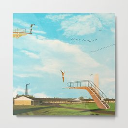 they made great leaps to follow in the flight of birds Metal Print