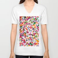 mosaic V-neck T-shirts featuring Mosaic by Laura Ruth