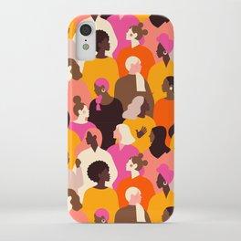 Female diverse faces pink iPhone Case