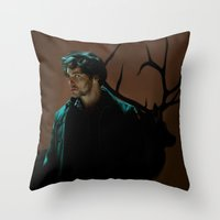 will graham Throw Pillows featuring Will Graham by Palloma