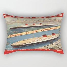 Vintage poster - Cunard Rectangular Pillow