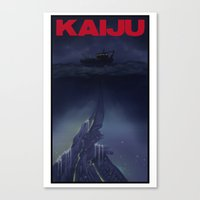 kaiju Canvas Prints featuring kaiju by tama-durden