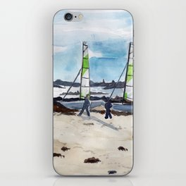 Saint-Maló beach iPhone Skin