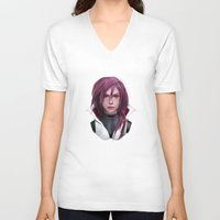3d V-neck T-shirts featuring 3d by Aldis Leal