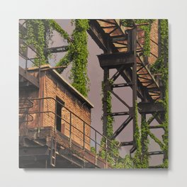 Green Apocalypse Territorial Theories Metal Print
