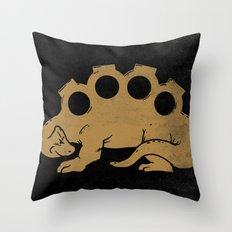 Brassknuckleosaurus Throw Pillow