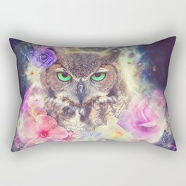Space Owl with Spice Rectangular Pillow