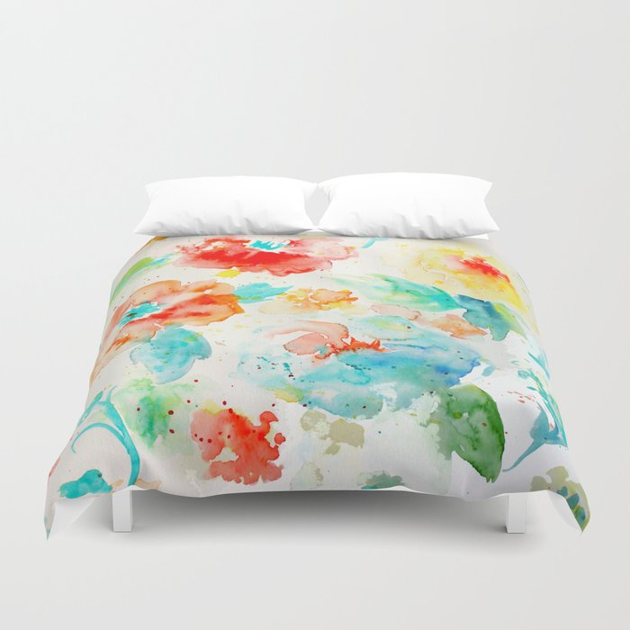 Abstract Flowers 02 Duvet Cover