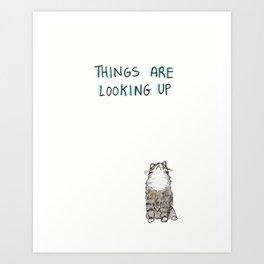 Optimisticat Art Print