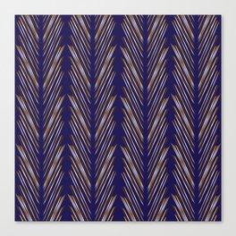Navy Blue Wheat Grass Canvas Print