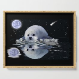 Destiny - Harp Seal Pup & Ice Floe Serving Tray