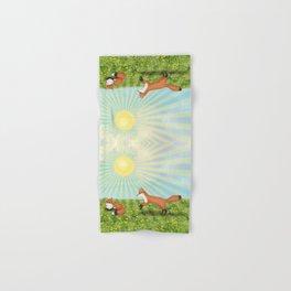 sunshine foxes Hand & Bath Towel