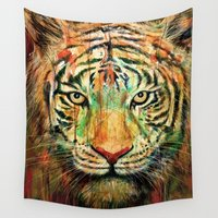 tiger Wall Tapestries featuring Tiger by nicebleed