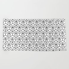 Hand Drawn Hypercube Beach Towel