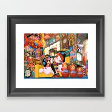 Oba-chan's Place Framed Art Print