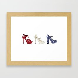 Red, White and Choo Framed Art Print