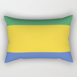 Gabon flag emblem Rectangular Pillow