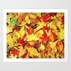 Falling for Autumn Art Print
