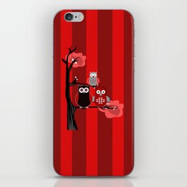 Red Owls iPhone Skin