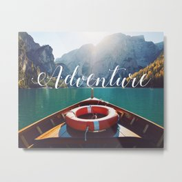 Live the Adventure - Typography Metal Print