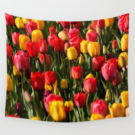 Peace, Love And Tulips Wall Tapestry