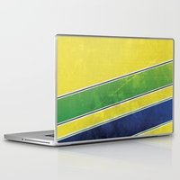 senna Laptop & iPad Skins featuring Ayrton Senna - I have no idols by Kelvin Farrell