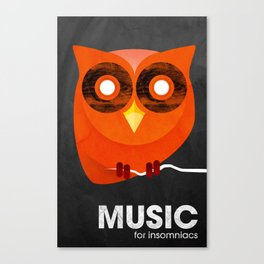 Music for insomniacs Canvas Print
