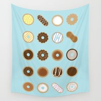 donuts Wall Tapestries featuring Donuts by Dorothy Leigh