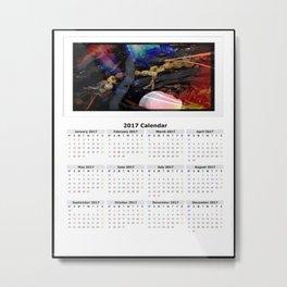 Shells Calendar 2017 Metal Print