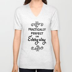 Practically perfect in every way mary poppins measuring tape..  Unisex V-Neck