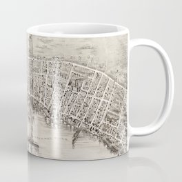 Vintage Pictorial Map of Newburyport MA (1894) Coffee Mug
