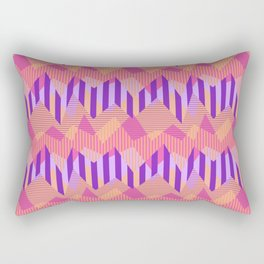 ZigZag All Day - Pink Rectangular Pillow