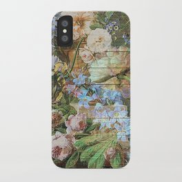 Blossom wood panel iPhone Case