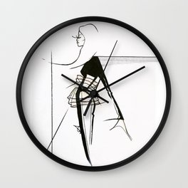 Silhouette (Moving-forward) Wall Clock