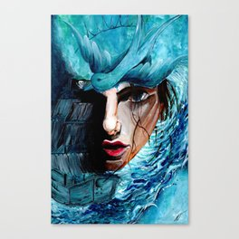 A Girl, a Pearl and a Sparrow Canvas Print