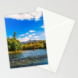 Rafting along the Bystraya (Fast) river, Kamchatka Stationery Cards