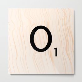 Scrabble Letter O - Large Scrabble Tiles Metal Print