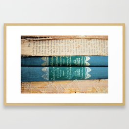 Jane Eyre / Wuthering Heights Framed Art Print