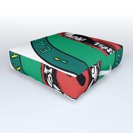 Eat Your Greens! Outdoor Floor Cushion