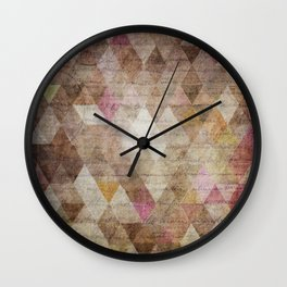 Vintage Triangles Wall Clock