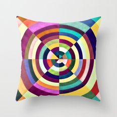 Playing Darts with Colours Throw Pillow