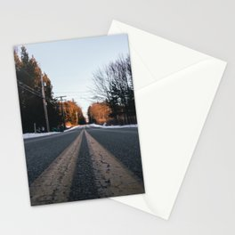 the open road to who knows where Stationery Cards
